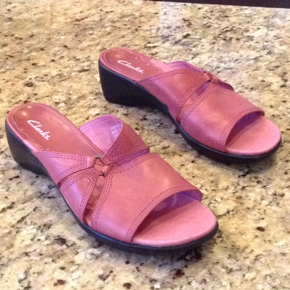 new list famous designer brand double coupon Clarks Size 7.5 Rose Pink Sandals